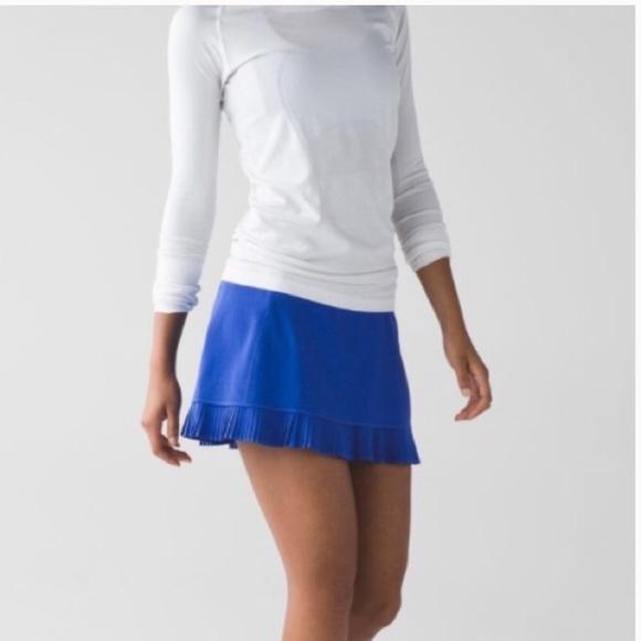 lululemon athletica Dresses & Skirts - Lululemon city sky run blue skirt